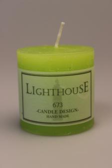 Cylinderljus Rustic Green Lemon 50x50 mm