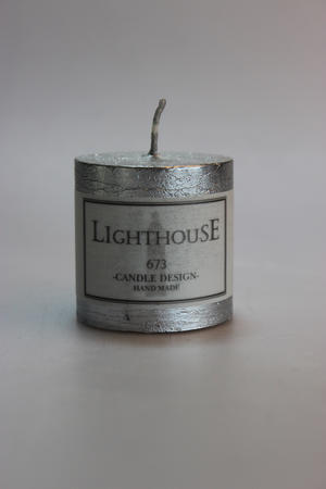 Cylinderljus Rustic Silver 50x50 mm