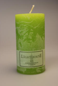 Cylinderljus Rustic Green Lemon 60x120 mm