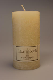 Cylinderljus Rustic Ivory 60x120 mm