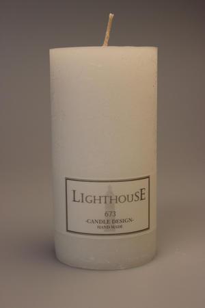 Cylinderljus Rustic White 60x120 mm