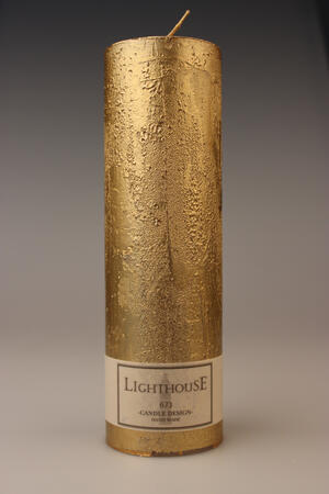 Cylinderljus Rustic Gold 60x200 mm
