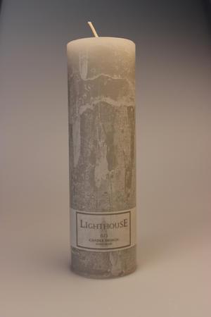 Cylinderljus Rustic Light Grey 60x200 mm