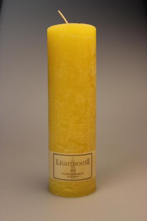 Cylinderljus Rustic Light Yellow 60x200 mm