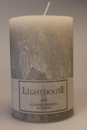 Cylinderljus Rustic Light Grey 100x150 mm