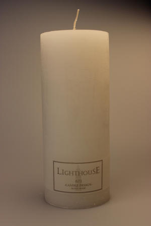 Cylinderljus Rustic White 100x250 mm