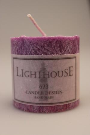 Cylinderljus Stearin Lilac 50x50 mm
