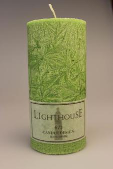 Cylinderljus Stearin Green 70x150 mm