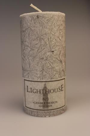 Cylinderljus Stearin Light Grey 70x150 mm