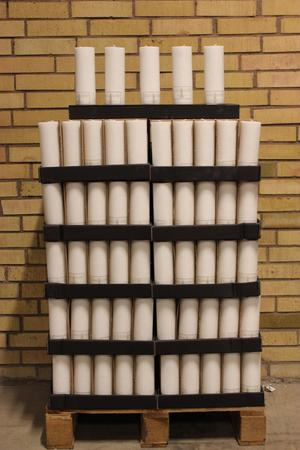 Display Cylinderljus Stearin White 70x200 mm