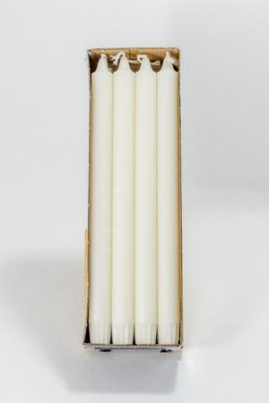 Kronljus 100 % Stearin White 2,2x29 cm 8-p