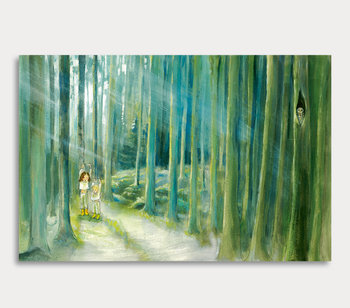 Children in the woods - canvas painting