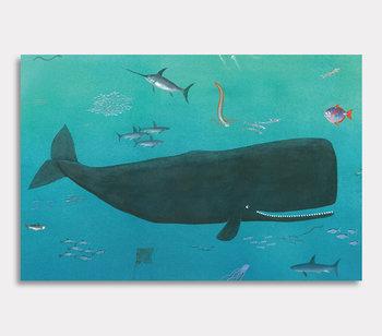 Leinwand Gemälde, Valdemar der Wal ist gross und schwimmt wohin er will