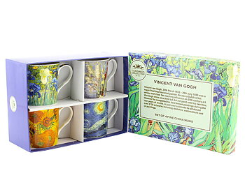 Van Gogh - 4-pack muggar i presentkartong