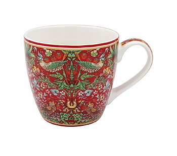 William Morris Red Strawberry Thief - Frukostmugg