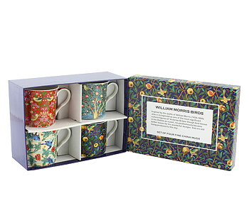William Morris Birds - 4-pack muggar i presentkartong