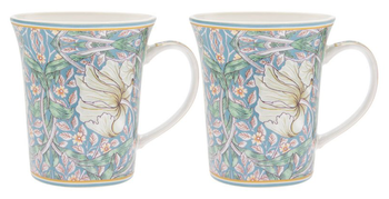 William Morris Teal Pimpernel - 2-pack muggar i presentkartong