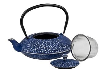 Hanami Blå Gjutjärnskanna 1.1 liter