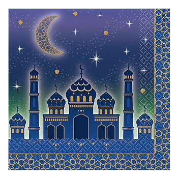 Napkins Eid Mubarak purple 16-pcs