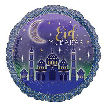 Eid Mubarak folieballong stor