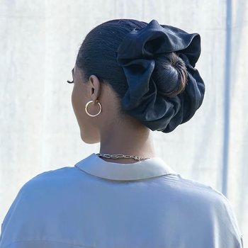 Satin hijab scrunchie
