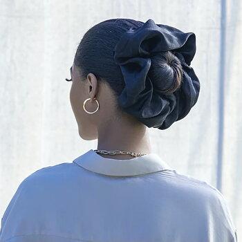 Satin hijab scrunchie