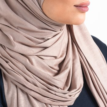 Jersey hijab - Mink