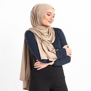 Jersey hijab - Taupe