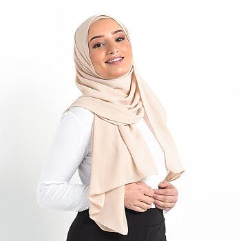 Crinkle Chiffon hijab - Beige
