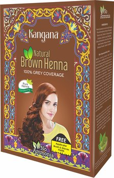 Kangana Hennapulver för hårfärgning - mörkbrun