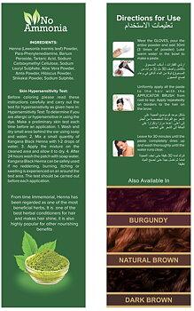 Kangana Hennapulver för hårfärgning - svart