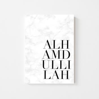 """Poster """"Alhamdullilah"""" marble"""