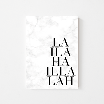 """Poster """"La ilaha ilallah"""" marmorerad"""