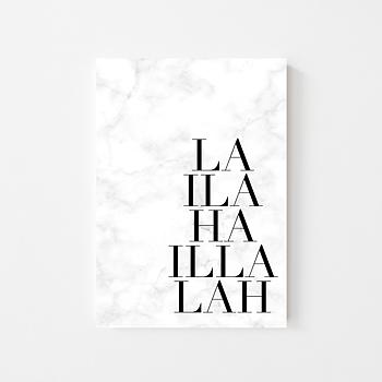 "Poster ""La ilaha ilallah"" marble"