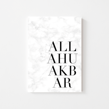 "Poster ""Allahu Akbar"" marmorerad"