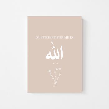"Poster ""Quran 9:129"""
