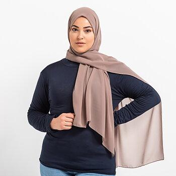 Luxe Chiffon hijab - Latte