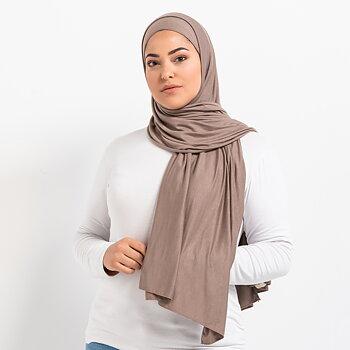 Tie-back Premium Jersey hijab - Latte