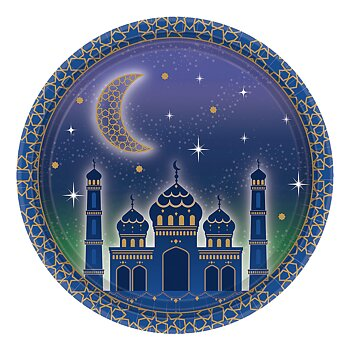 Eid Mubarak paperplates purple 8-pcs