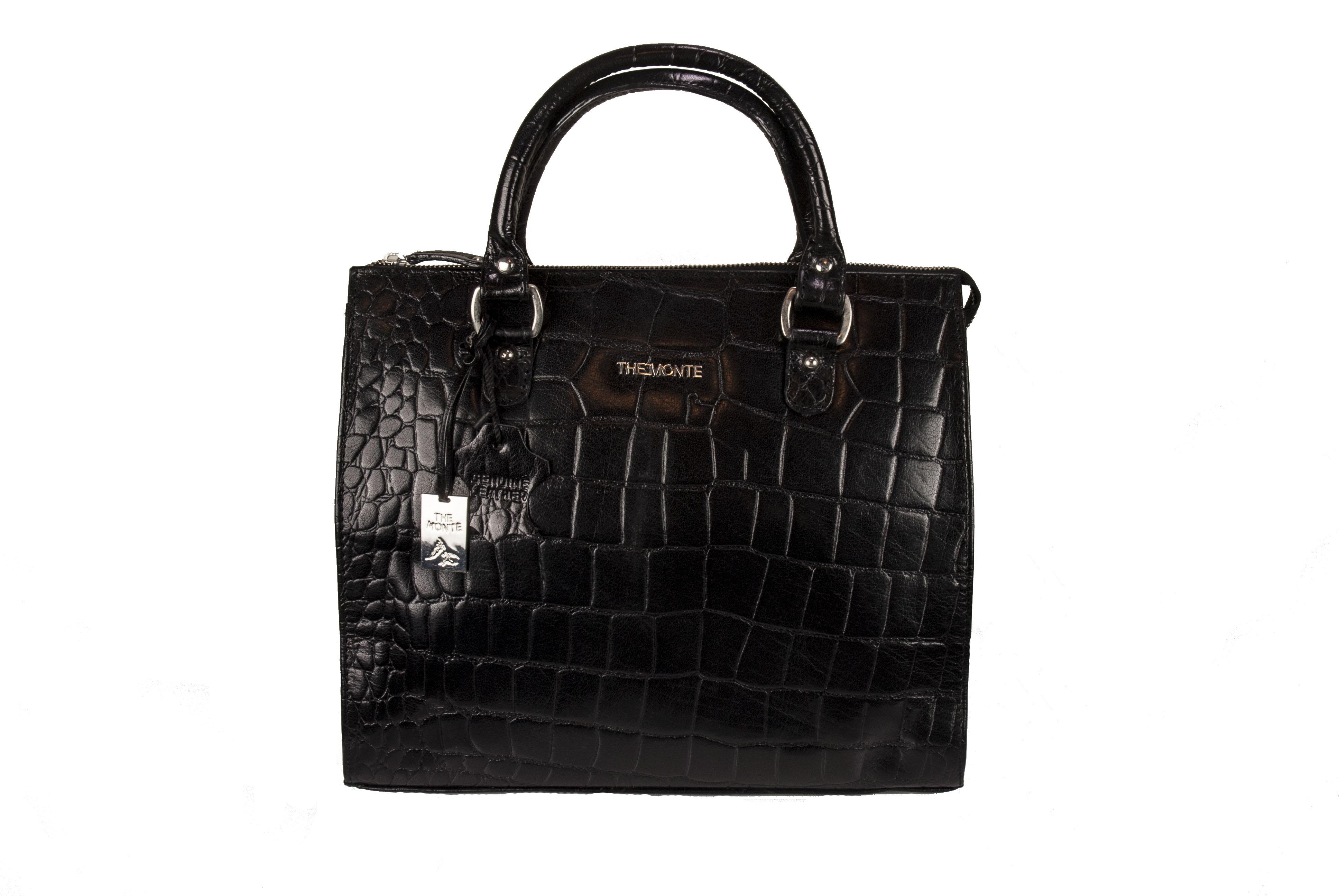 väska krokodilmönster