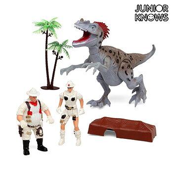 Expeditionslek med dinosaurie