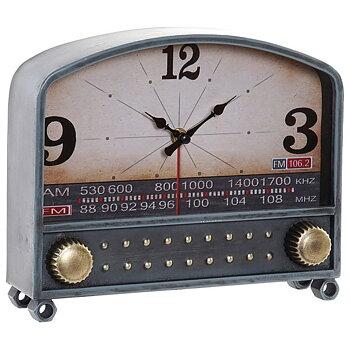 Asztali óra Dekodonia Metall Trä MDF Radio (26 x 7 x 21 cm)