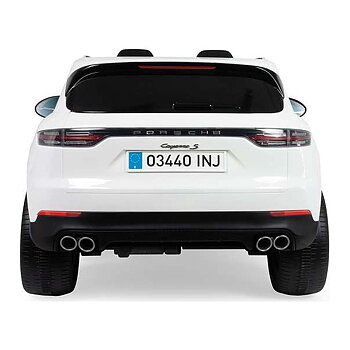 Elektrisk bil för barn Injusa Porsche Cayenne 12V Vit (134 x 81,5 x 58 cm)