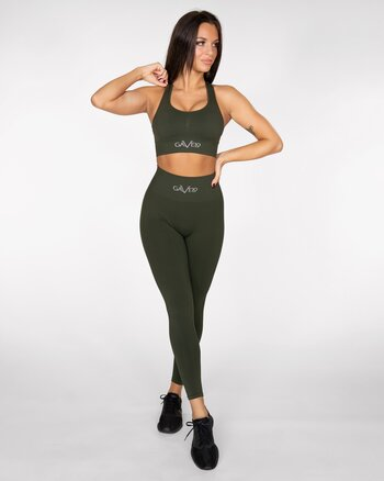 GAVELO Seamless Booster Forest Green Tights