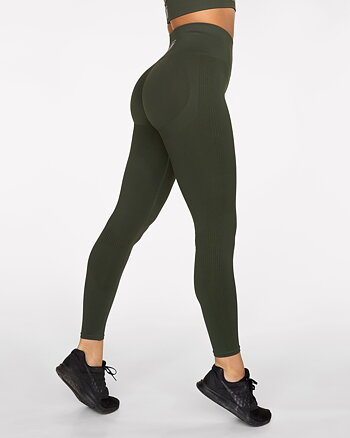 GAVELO Seamless Booster Forest Green Leggings