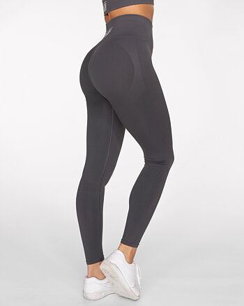 GAVELO Seamless Booster Gun Metal Leggings