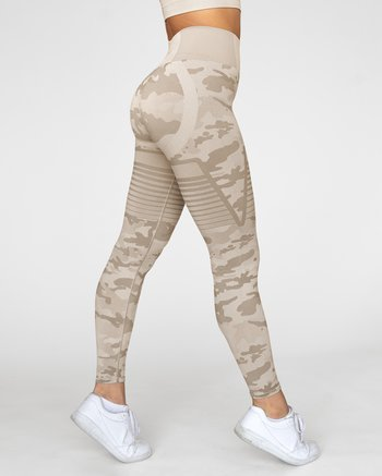 GAVELO Seamless Desert Storm Camo Tights