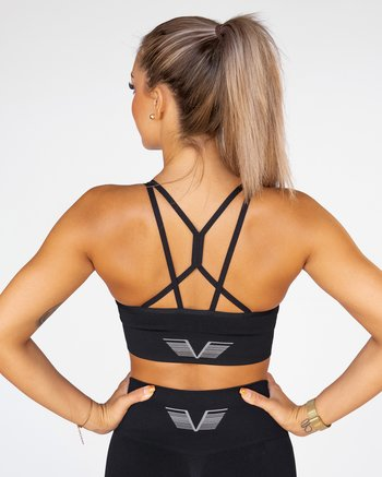 GAVELO Seamless  Black Sports Bra