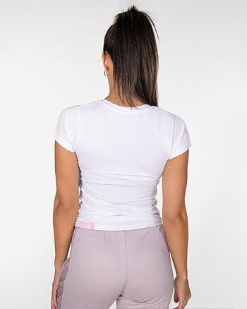 GAVELO White Pink Logo T-shirt