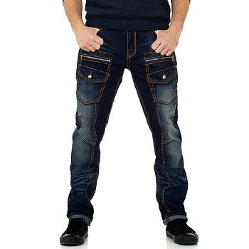 Blåa Herrjeans med extra fickor